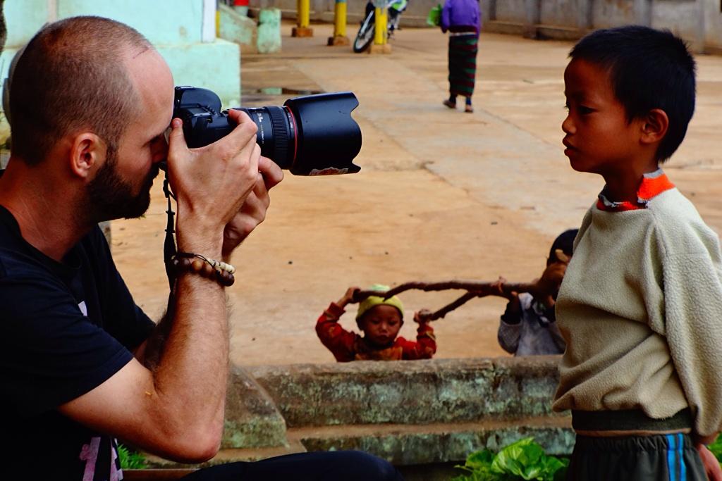The Photographer at work, Myanmar