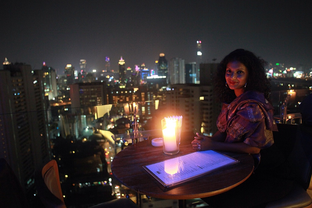 Rooftop dinner, Above Eleven, Bangkok