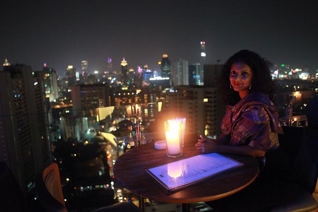 Rooftop dinner, Above Eleven, Bangkok