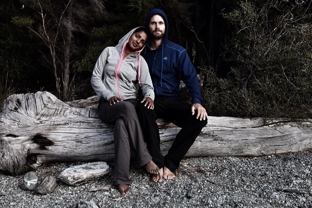 Emi and Patrick, Fox glacier, NZ